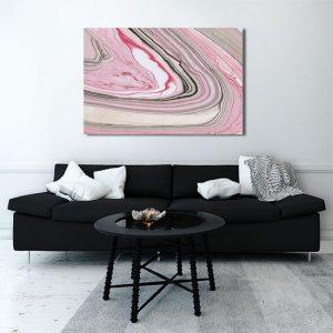 Obraz różowe mazaje