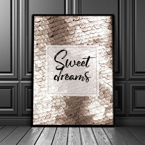 Plakat Z Napisem Sweet Dreams