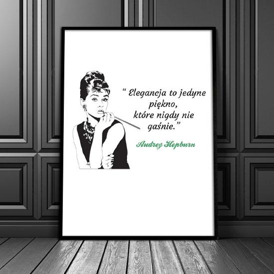 Plakat Elegancja To Jedyne Piękno