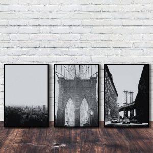 plakaty z mostem brooklińskim