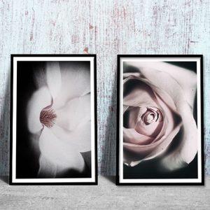 dyptyki z kwiatami
