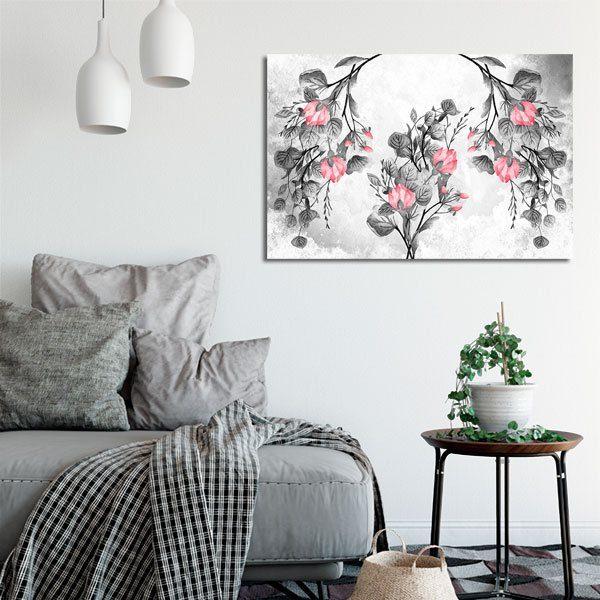 obraz z kwiatami