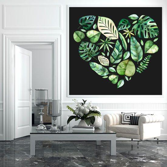 dekoracje zielono-czarna