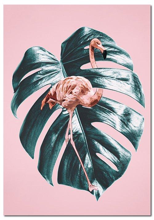 plakaty z flamingiem