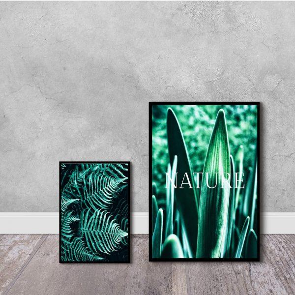 zielone plakaty