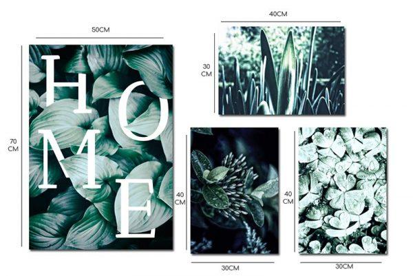 zestaw z roślinami