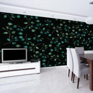 dekoracja z roślinami