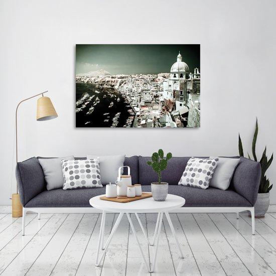 sypialnia lub salon z obrazem