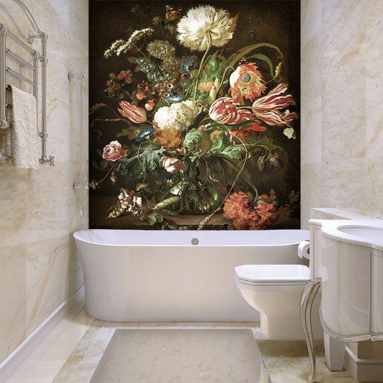 Foto Tapeta Z Kolorowymi Kwiatami