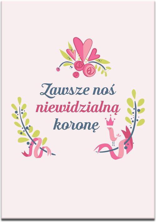 różowo-zielony plakat