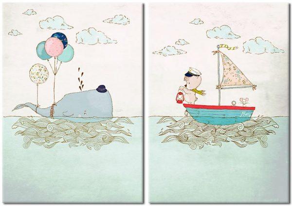 plakat z rysunkowym motywem