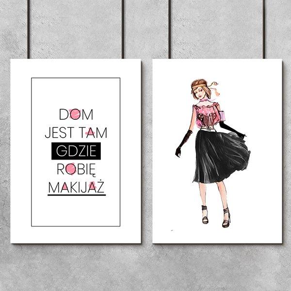 Plakat Dyptyk Z Kobietą I Napisem Dom Jest Tam Gdzie