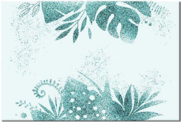 brokatowe liście jako obraz