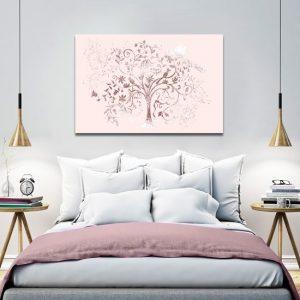 drzewo brokatowe w sypialni