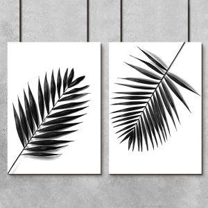liście palmy jako plakat