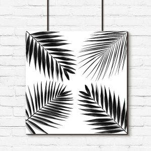 liście palmy na plakacie