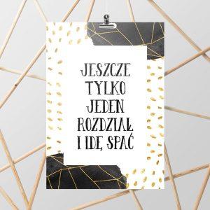 czarno-złoty plakat do salonu