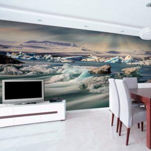 jezioro i kry islandzkie