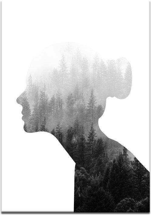 plakat z białym tłem o kobiecie