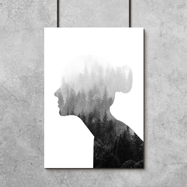 las i kobieta na plakacie
