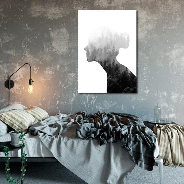 plakat do sypialni z kobietą