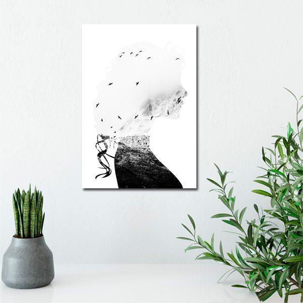 plakat biało-czarny