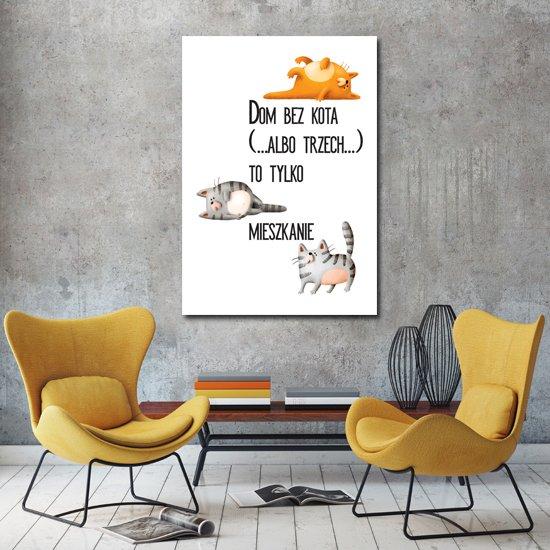 plakat z napisem i kotkami
