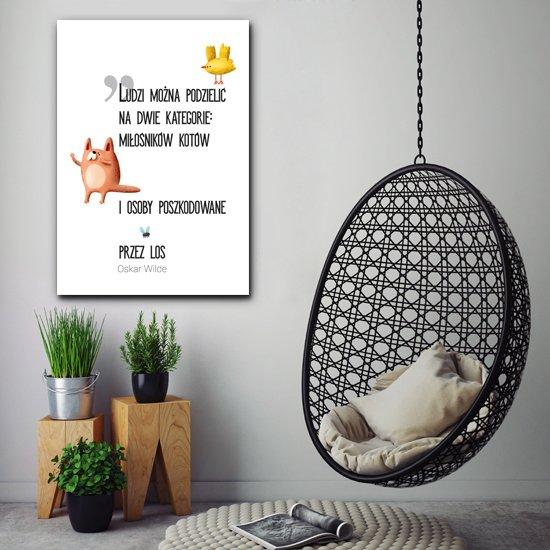 cytata Oskara Wilde na plakacie