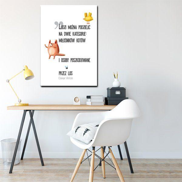 plakat o kotach z cytatem