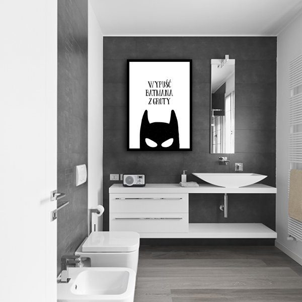 łazienkowa ozdoba z plakatem