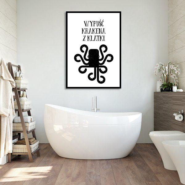 plakat z czarno-białym napisem