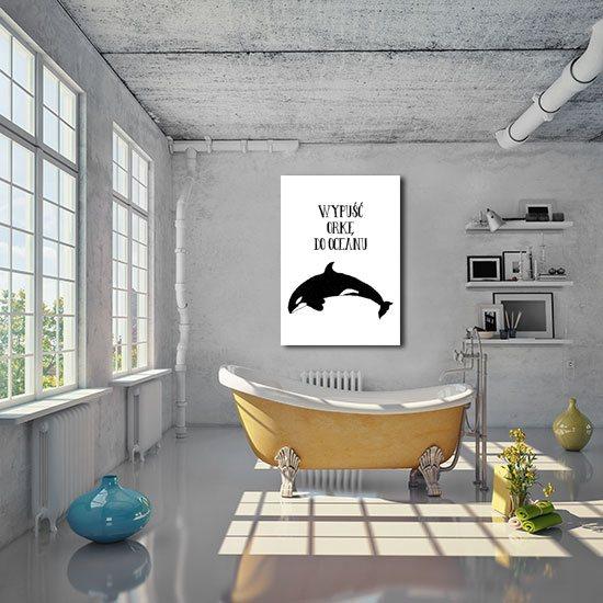 plakat do łazienki z orką