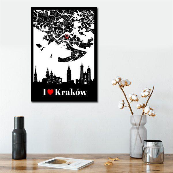 I love Kraków jako napis