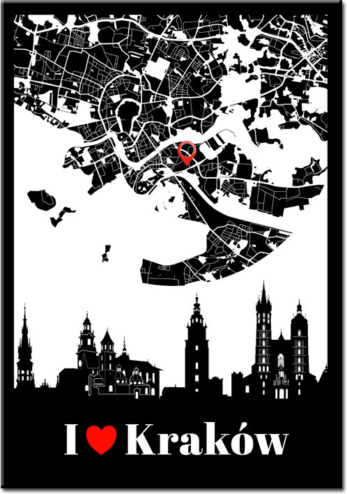 Kraków jako napis na plakacie