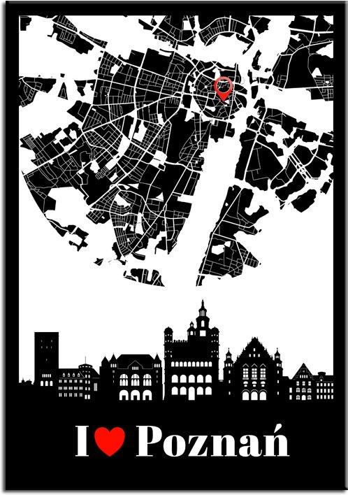 I love Poznań jako plakat do salonu