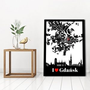 plakat do salonu z Gdańskiem
