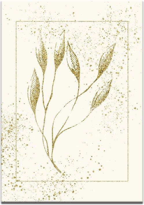 złote liście na plakacie