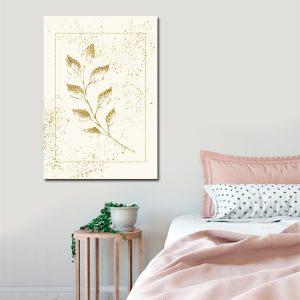 złota roślinka jako plakat