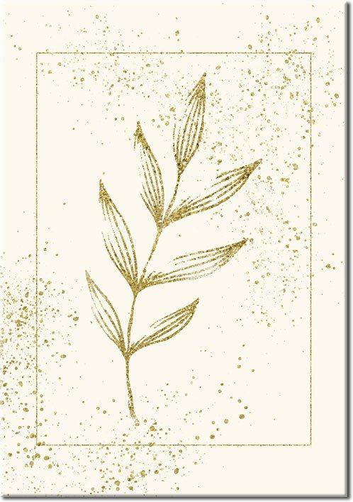 roślinna dekoracja w formie plakatu