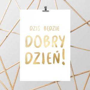 złoty napis plakat