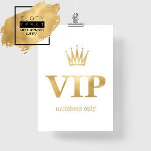Złoty plakat VIP