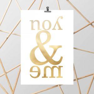 plakaty ze złotymi dodatkami