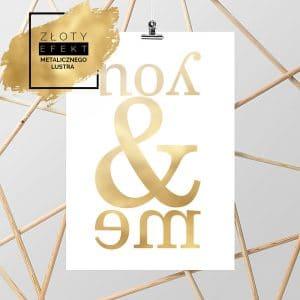 Złoty plakat you&me