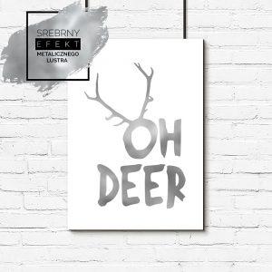 Srebrny plakat oh deer