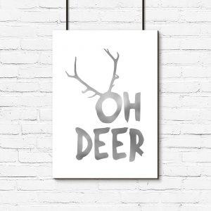 napis oh deer na plakacie