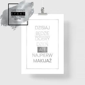 Srebrny plakat makijaż