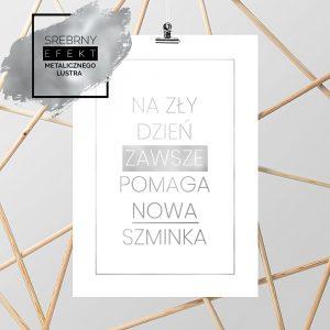 Srebrny plakat nowa szminka