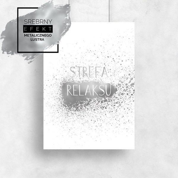Srebrny plakat strefa relaksu