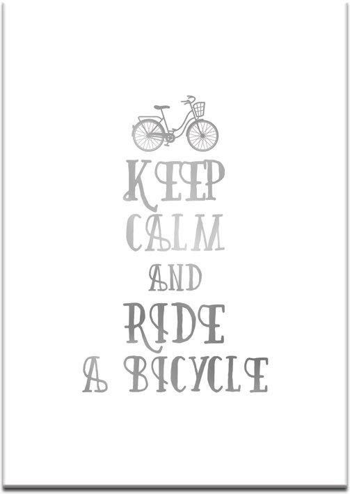 motyw jazdy na rowerze na plakacie