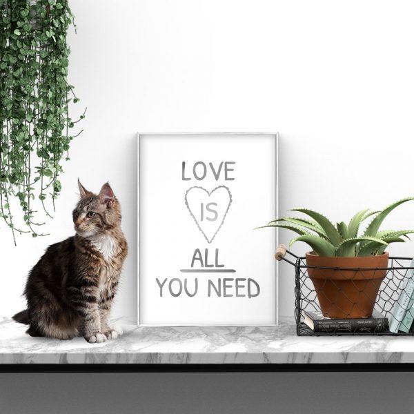 srebrzony plakat do salonu